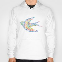 swallow Hoodies featuring Triangled Swallow  by XOOXOO