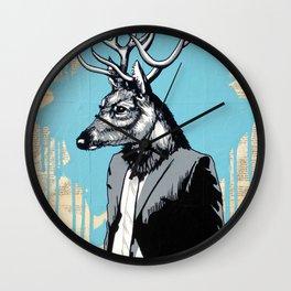 Deer Head Wall Clock