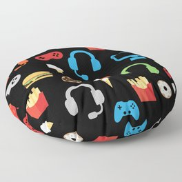 Video Game Party Snack Pattern Floor Pillow
