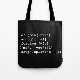 Rick Roll in Python Tote Bag