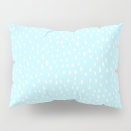 Baby Blue Paint Drops Pillow Sham