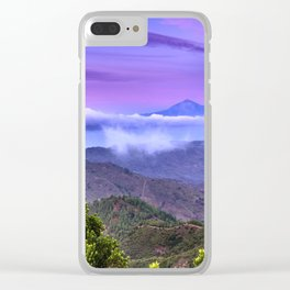 Volcano Teide And Garajonay. 3.718 Meters. At sunset Clear iPhone Case