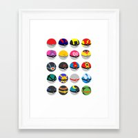 pokeball Framed Art Prints featuring Pokeball by WSS3 The Paint Project