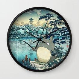 Japanese woodblock mashup Wall Clock