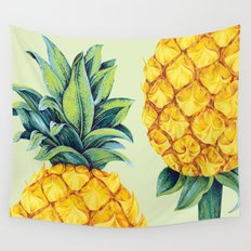 Pineapple Paradise Wall Tapestry
