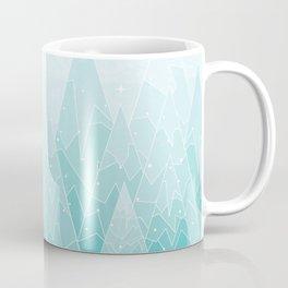 Geometric Lake Mountain IV - Winter Coffee Mug
