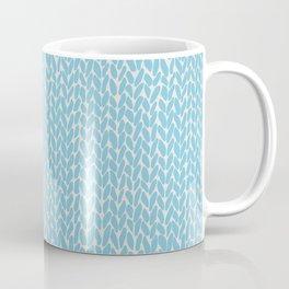 Hand Knit Sky Blue Coffee Mug