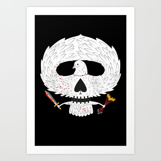 Dove of Death Art Print