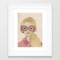 luna lovegood Framed Art Prints featuring Luna Lovegood by Joan Pons