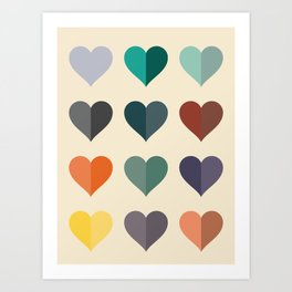 Hearts: One Art Print