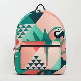 Colorful Geometric Birds I Backpack