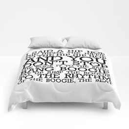 HIP HOP BOGGIE WHITE Comforters