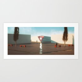 Hexa Plaza Art Print