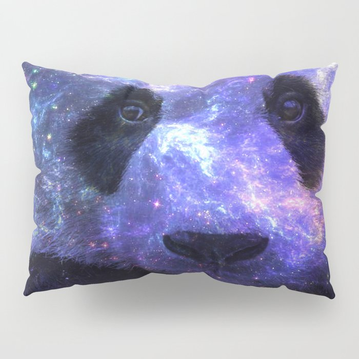 Galaxy Panda Space Colorful Pillow Sham