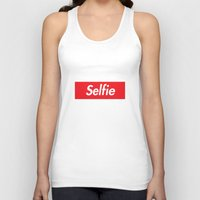 supreme Tank Tops featuring Selfie Supreme by RexLambo