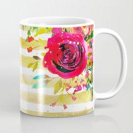 Flowers & Stripes 2 Coffee Mug