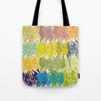 oil Tote Bags featuring oil by nuface