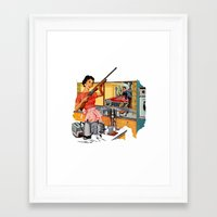 feminism Framed Art Prints featuring Feminism  by Protogami