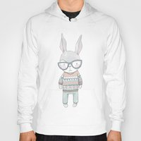 bunnies Hoodies featuring BUNNIES by Catalina Graphic