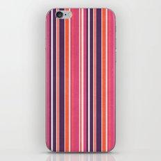 Happy Vertical LInes Pink Version iPhone Skin