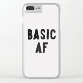 Basic AF Clear iPhone Case