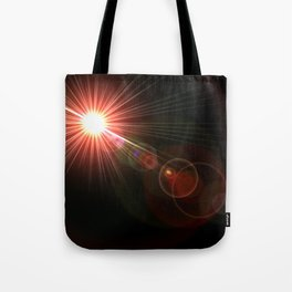 red lens flare Tote Bag