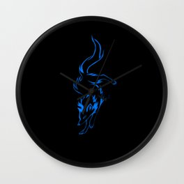 The Blue Wolf Wall Clock