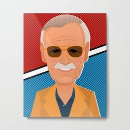 Stan Lee Metal Print