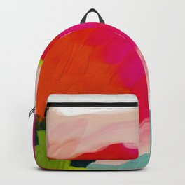 abstract pink art Backpack