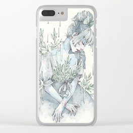 Springy Rain Clear iPhone Case
