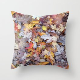 leaf litter menagerie Throw Pillow
