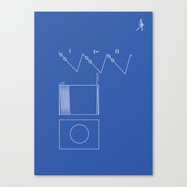 Voyager Golden Record Fig. 2 (Blue) Canvas Print