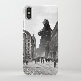 Old Time Godzilla in San Francisco iPhone Case
