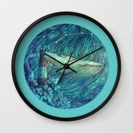 Moonlit Sea Wall Clock