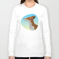 low poly Long Sleeve T-shirts featuring Low-Poly fox by fortyfive