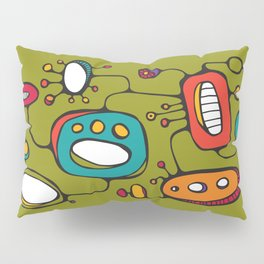 Scribbles 02 in Color Pillow Sham