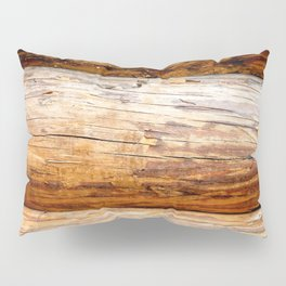 Wooden Log Wall Of A Vintage Cabin Pillow Sham