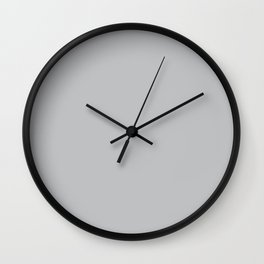 Stormy Grey - Light Neutral Mid Tone Gray Solid Color Wall Clock