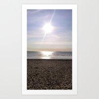 Beach Ray Art Print