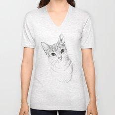 A Sketch :: Cat Eyes Unisex V-Neck