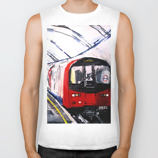 London Underground Northern Line Fine Art Biker Tank