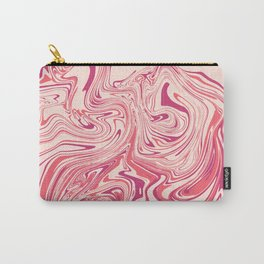 Pastel pink abstract marble Carry-All Pouch