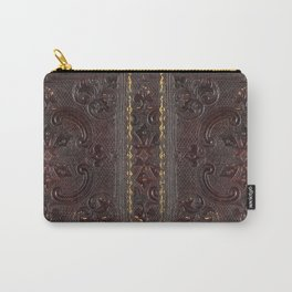 Ancient Leather Book Carry-All Pouch