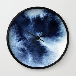 Indigo Nebula Wall Clock