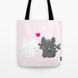 Light Fury & Night Fury LOVE Tote Bag