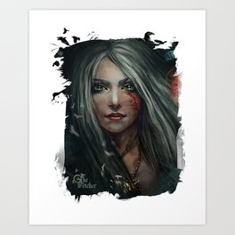 Cirilla - The Witcher Art Print