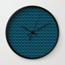 Menorah and Star of David Hanukkah Design Wall Clock