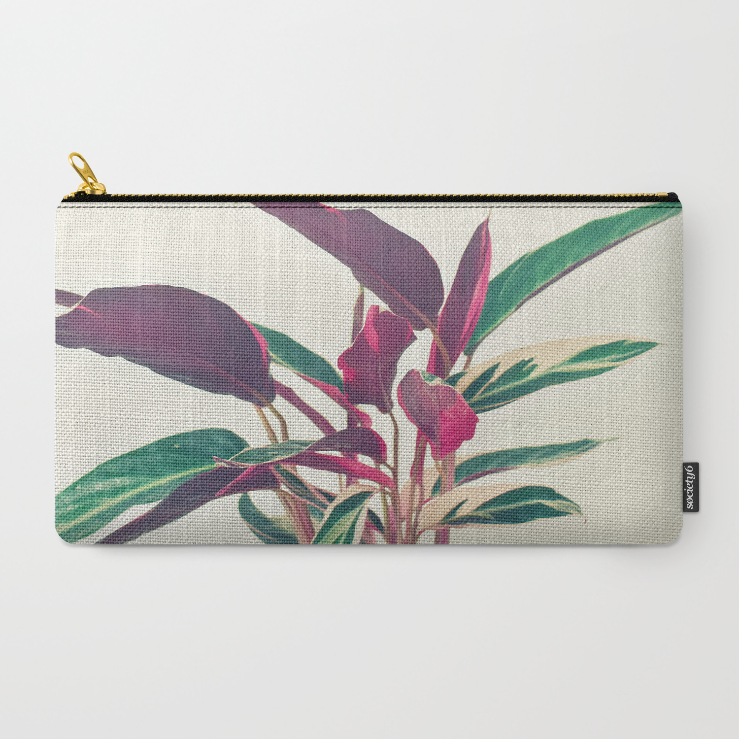 Prayer Plant Carry All Pouch By