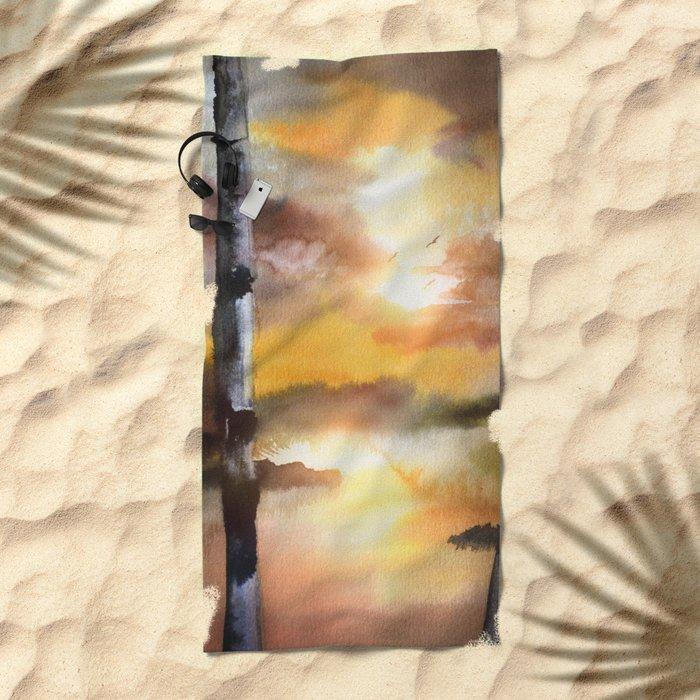 Calling The Sun XVII Beach Towel