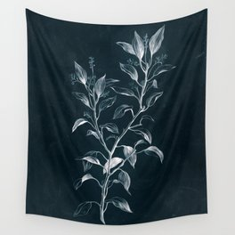 Cyanotype - Camphora Officinalis Wall Tapestry